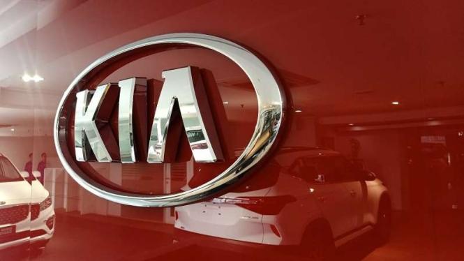 Ilustrasi logo mobil KIA