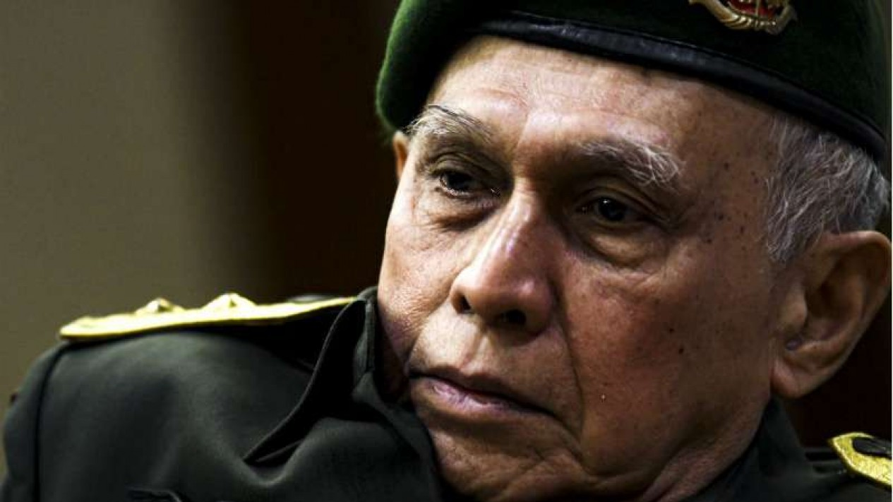Terdakwa kasus kepemilikan senjata api ilegal, Mayor Jenderal (Purn) Kivlan Zen.