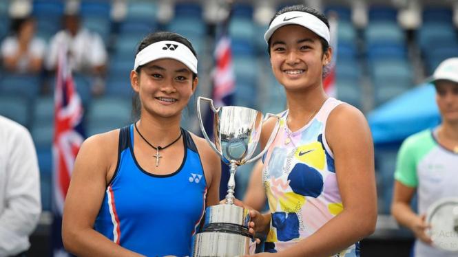 Ganda putri Priska Nugroho/Alexandra Eala juarai Australian Open Junior 2020