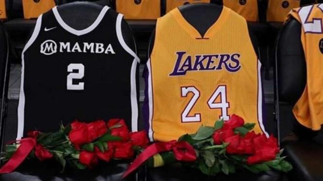 Penghormatan terakhir untuk mendiang Kobe Bryant, bintang LA Lakers
