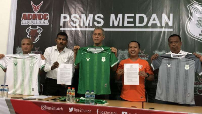 Jersey anyar PSMS Medan.