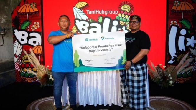 MoU kerjasama kolaborasi perubahan baik antara aksimuda dan TaniHub Group.