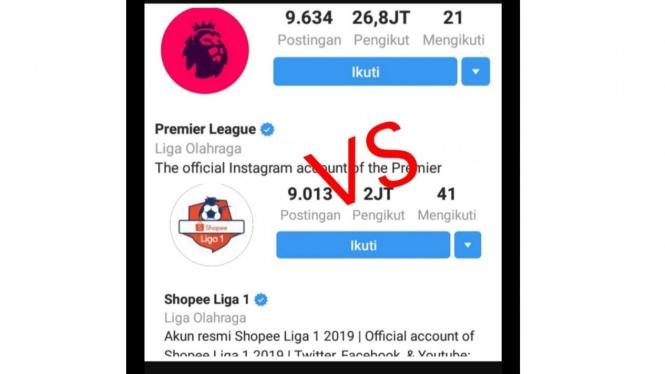 Liga Primer Inggris vs Liga 1 Indonesia