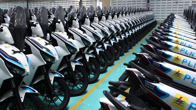 Ratusan unit motor listrik Gesits siap dikirim ke pemesan