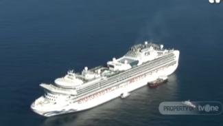 Penumpang Kapal pesiar Diamond Princess dikarantina di tengah laut