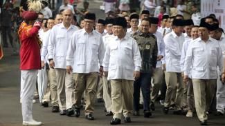 Prabowo Subianto dan Anies Baswedan, HUT Partai Gerindra ke-12