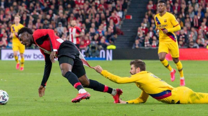 Laga perempatfinal Copa del Rey 2019/2020 antara Athletic Bilbao vs Barcelona