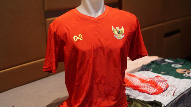 Jersey baru Timnas Indonesia buatan Warrix