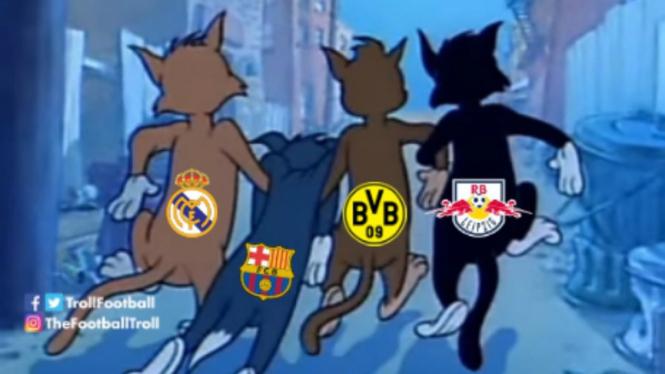 Meme kocak usai Barca dan Madrid tersingkir dari pentas Copa del Rey