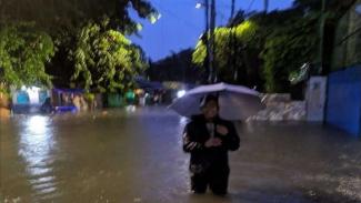 Beberapa wilayah DKI Jakarta kembali tergenang banjir