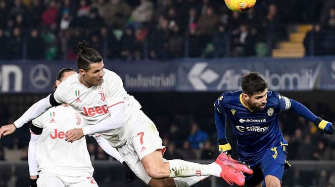 Laga Serie A 2019/2020 antara Hellas Verona kontra Juventus