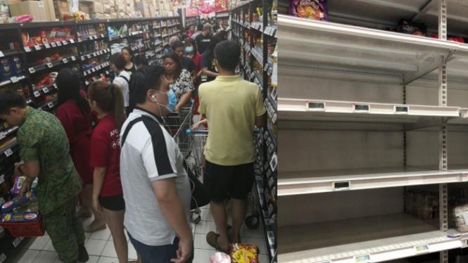 Hasil gambar untuk supermarket diserbu