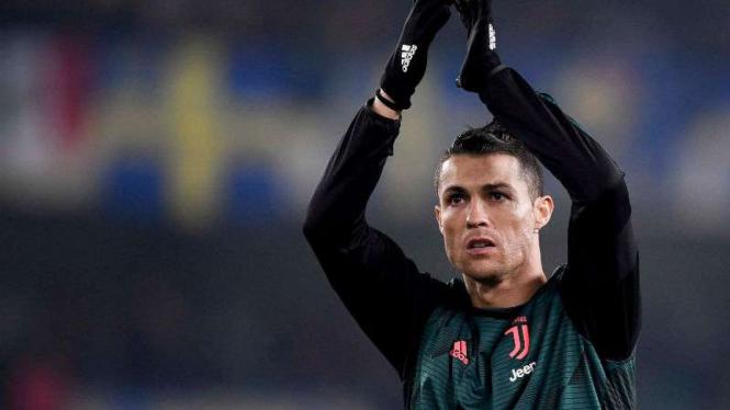 Pemain Juventus, Cristiano Ronaldo.