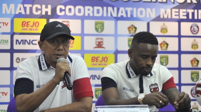Pelatih Madura United, Rahmad Darmawan dan Greg Nwokolo