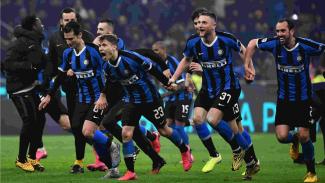 Selebrasi skuat Inter Milan