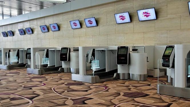"""Keberangkatan di Bandara Changi Lebih Cepat dengan Sistem """"Self Service"""""""