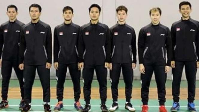 Tim bulutangkis putra Indonesia di BATC 2020.