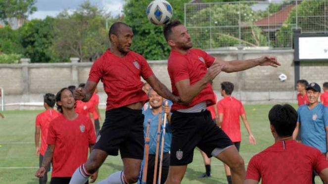 Latihan Bali United jelang Piala AFC.