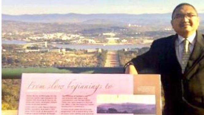 Berkunjung ke Gunung Ainslie, Canberra, Australia.