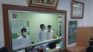 Lab Badan Litbangkes untuk deteksi virus corona.