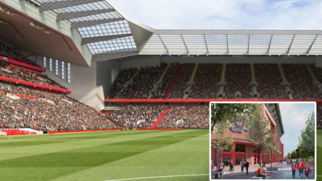 Rancangan desain baru Stadion Anfield Liverpool