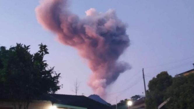 Erupsi Gunung Merapi pada Kamis, 13 Februari 2020