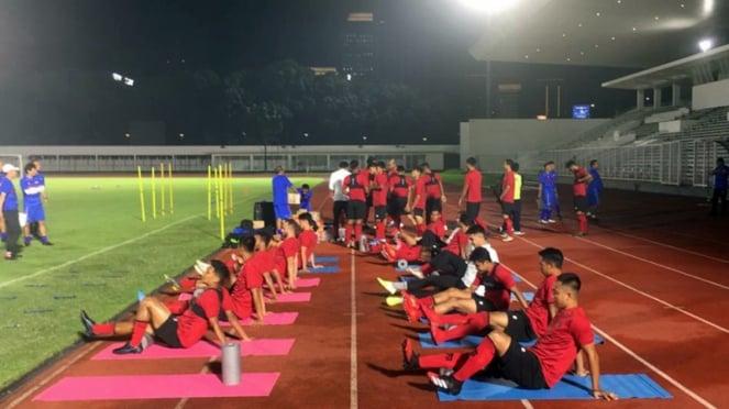 Latihan Timnas Indonesia di Stadion Madya, Gelora Bung Karno
