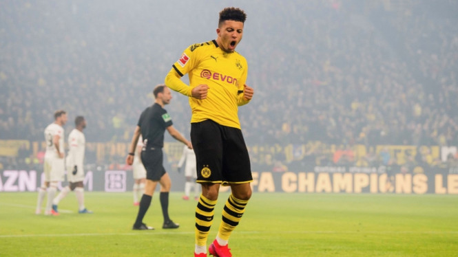 Bintang Borussia Dortmund, Jadon Sancho.