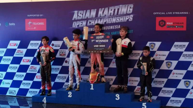 Qarrar Firhand Ali juara Asian Karting Open Championships 2020