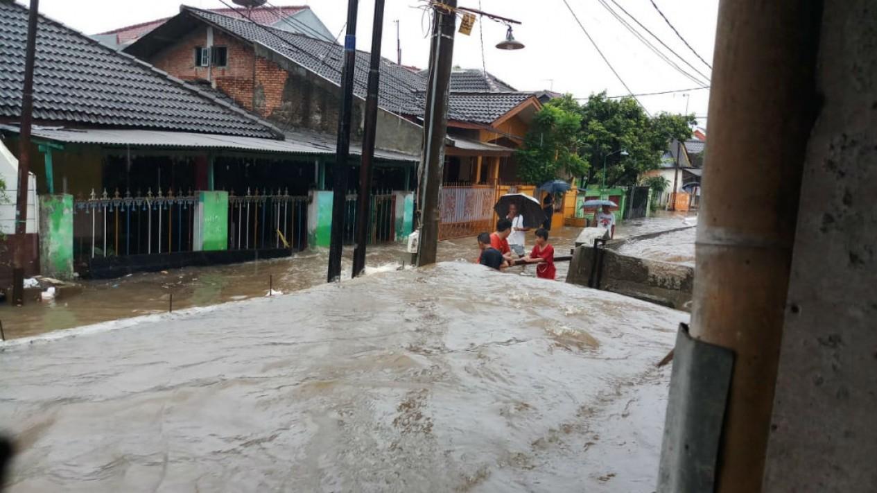 Banjir di Bekasi, Minggu sore 16 Februari 2020