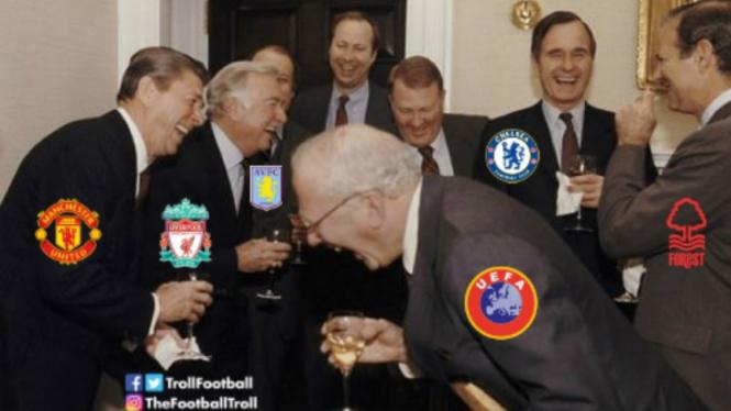 Meme kocak usai Mancehster City dijatuhi sanksi UEFA