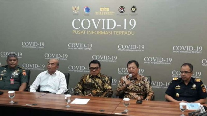 Konferensi pers virus Corona Covid-19 oleh Menkes Terawan