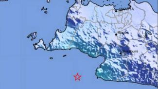 Peta lokasi gempa Lebak Banten.