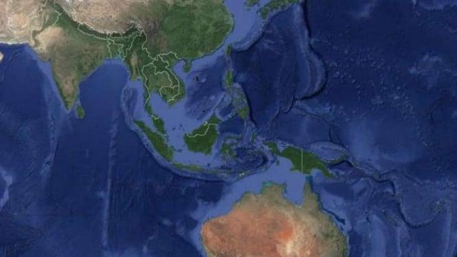 Peta Indonesia.