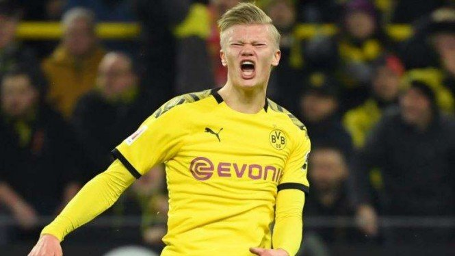 Penyerang Borussia Dortmund, Erling Braut Haaland