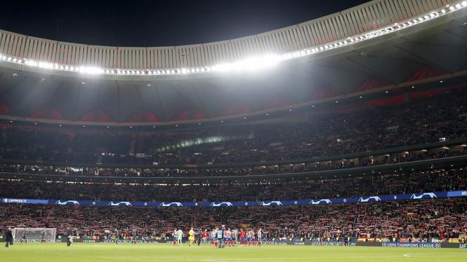 Suasana di Wanda Metropolitano dalam duel Atletico Madrid vs Liverpool