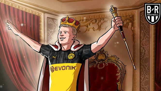 Meme kocak bomber Borussia Dortmund, Erling Haaland
