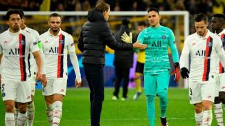 Ekspresi kecewa para pemain Paris Saint-Germain (PSG)