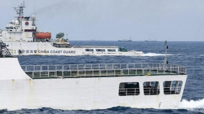 Ilustrasi Kapal Laut.