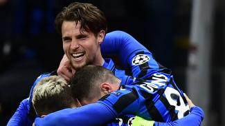 Atalanta merayakan gol ke gawang Valencia
