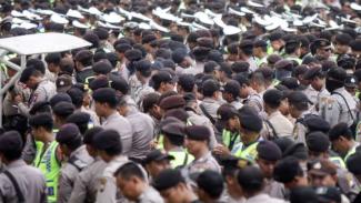 Pengamanan jelang final Piala Gubernur Jawa Timur.