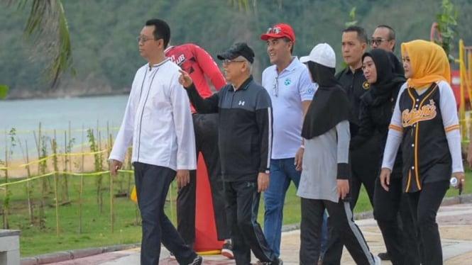 Wapres Maruf Amin mengunjungi kawasan ekonomi khusus Mandalika Lombok