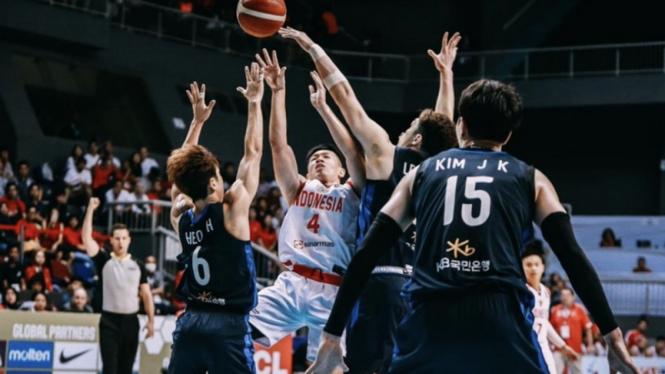Pertandingan kualifikasi Piala Dunia Basket 2023, Timnas Indonesia Vs Korsel