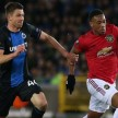 Striker Manchester United, Anthony Martial saat lawan Club Brugge