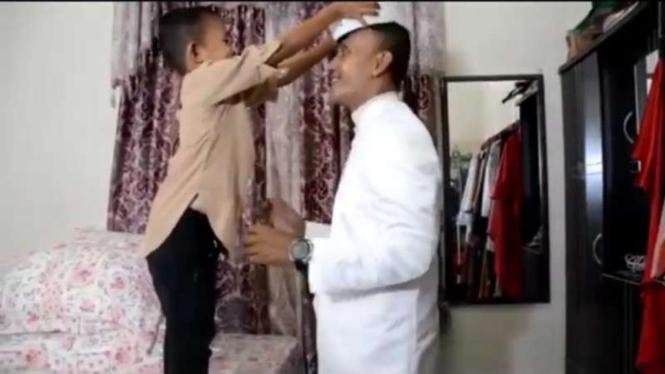 Brigadir T Murizal Saputra saat akan menikah.
