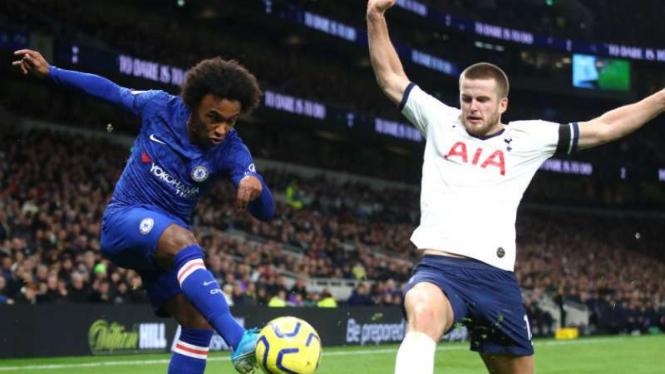 Duel Tottenham Hotspur vs Chelsea.