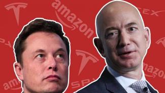Elon Musk dan Jeff Bezos
