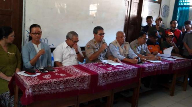 Kepala Bidang Hubungan Masyarakat Kepolisian Daearah DI Yogyakarta Kombes Pol Yuliyanto dalam konferensi pers di kantornya, Sabtu, 22 Februari 2020.