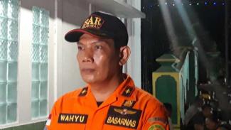 Kepala Badan SAR Nasional DI Yogyakarta, Lalu Wahyu Effendy, di posko pencarian para siswa korban terhanyut arus sungai di Kabupaten Sleman, DI Yogyakarta, Sabtu, 22 Februari 2020.