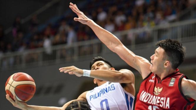 Duel Kualifikasi FIBA Asia 2021 antara Indonesia vs Filipina